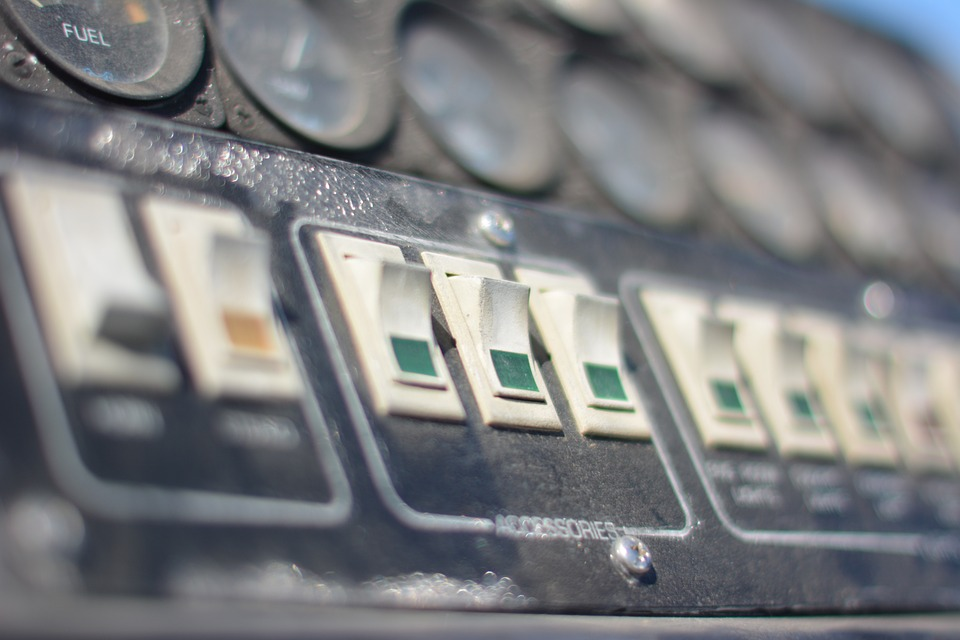 photo of switches on a control panel